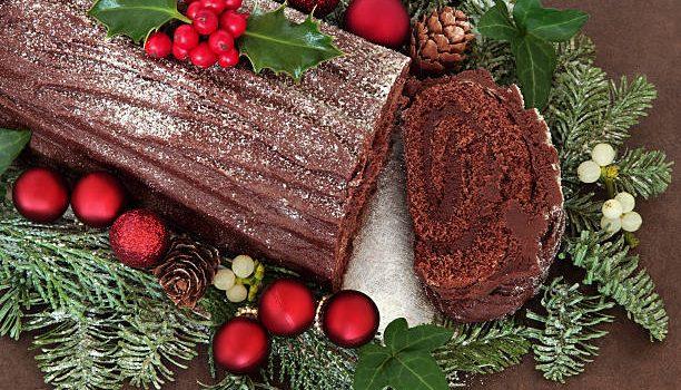 Σοκολατένιος κορμός Χριστουγέννων