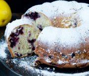 Κέικ με μύρτιλα και άρωμα λεμονιού (Video)