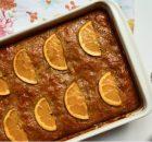 Πορτοκαλόπιτα σιροπιαστή με γιαούρτι