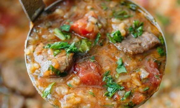 Κρεατόσουπα με ρύζι