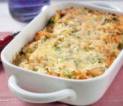 Λαζάνια με μανιτάρια μπέικον και τυρί