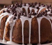 Σοκολατένιο κέικ με μπανάνες και υπέροχο γλάσο στιγμής