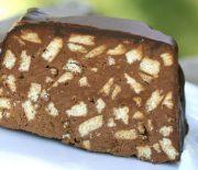 Σοκολατένιος κορμός με επικάλυψη σοκολάτας