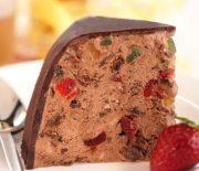 Παγωτό σοκολάτας πανεύκολο με κερασάκια γλασέ και ζαχαρούχο γάλα