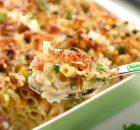 Πέννες ογκρατέν με λαχανικά και light τυριά