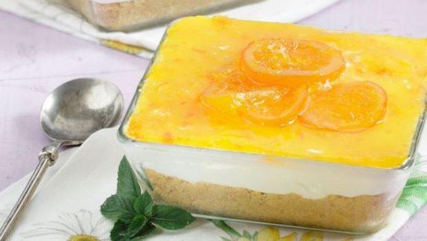 Δροσερό cheesecake πορτοκάλι