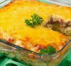 Φουσίλι με κιμά και τυρί στο φούρνο