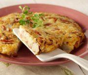 Πατάτες ρόστι με κρεμμύδι και πιπεριά