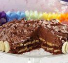 Πανεύκολη τουρτίτσα σοκολάτας με μπανάνες