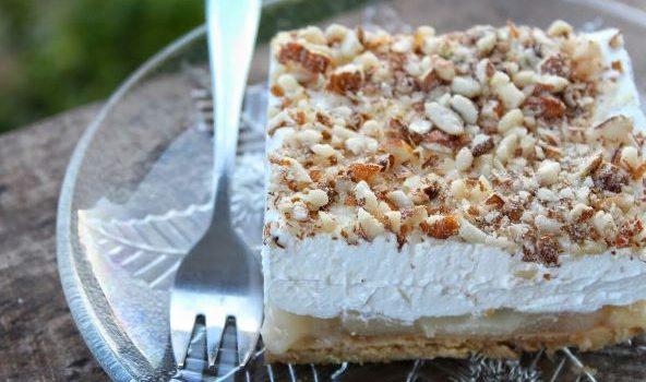 Γλυκό ψυγείου με αχλάδια νηστίσιμο (Video)