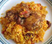 Κοτόπουλο λεμονάτο με ριζότο