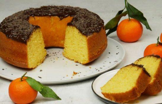 Κέικ μανταρίνι πανεύκολο χωρίς βούτυρο (Video)
