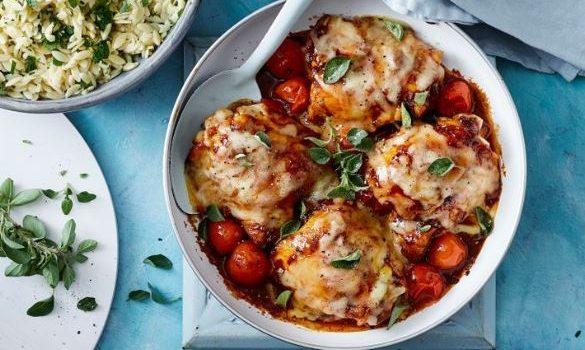 Κοτόπουλο Caprese με μοτσαρέλα