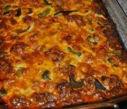 Κολοκυθόπιτα χωρίς φύλλο με τυριά και λιαστές ντομάτες