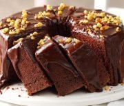 Κέικ σοκολάτας με σοκολατένια γκανάς