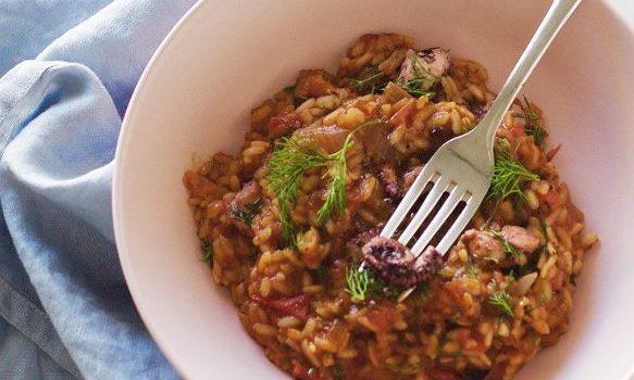 Χταπόδι με ρύζι