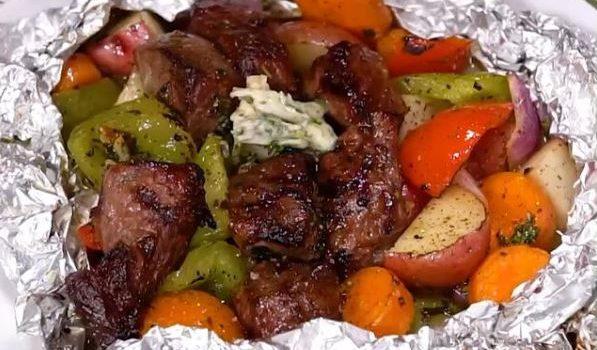 Μοσχαράκι με λαχανικά στη λαδόκολλα