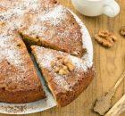 Κέικ πορτοκάλι με καρύδια και μπαχαρικά νηστίσιμο