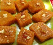 Χαλβάς πορτοκαλένιος με σιμιγδάλι