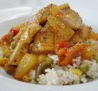 Φιλέτο κοτόπουλο με γλυκόξινη σάλτσα και ρύζι