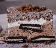 Τούρτα παγωτό με 4 μόνο υλικά (Video)