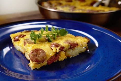 Φρουτάλια η τέλεια ομελέτα με πατάτες και λουκάνικα