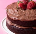 Σοκολατένιο κέικ με ελαιόλαδο και κρέμα σοκολάτας τυριού