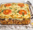 Ζυμαρικά με λαχανικά και μπεσαμέλ στο φούρνο