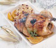 Κόκορας στο φούρνο με γεμιστή πέτσα