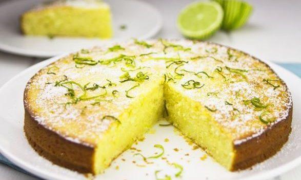 Κέικ πανεύκολο με γιαούρτι, λάιμ και ελαιόλαδο