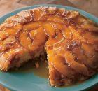 Κέικ αναποδογυριστό με καραμελωμένα μήλα (Video)