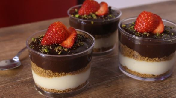 Νηστίσιμο γλυκάκι βανίλια σοκολάτα (Video)