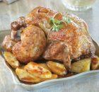 Κοτόπουλο με πατατούλες στο φούρνο