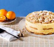 Μιλφέιγ με πορτοκάλι γιαούρτι και σαβαγιάρ