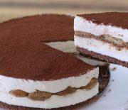 Τιραμισού Cheesecake ψυγείου χωρίς αυγά (Video)