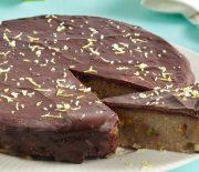 Σιμιγδαλένιος χαλβάς με σοκολάτα