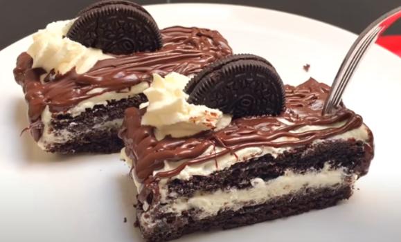 Κέικ με ζύμη oreo με 4 μόνο υλικά (video)