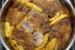 Μπριζόλες χοιρινές με πορτοκάλι και μέλι με πατάτες στο φούρνο