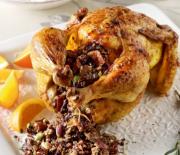 Κόκορας με φανταστική γέμιση και πορτοκαλένια σάλτσα