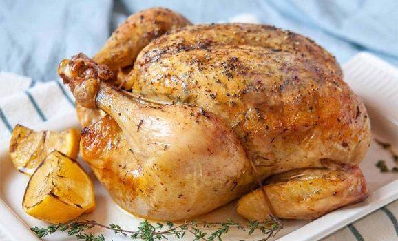 Κοτόπουλο γεμιστό με πανσέτα και μυρωδικά
