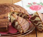 Κέικ ζέβρα με ελαιόλαδο
