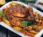 Κοτόπουλο ζουμερό και μυρωδάτο με λαχανικά στο φούρνο (Video)