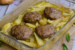 Μπιφτέκια γεμιστά με πατάτες στο φούρνο