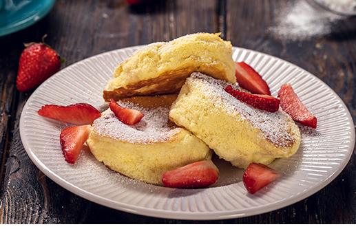 Pancakes σουφλέ, αφράτα μαλακά και αέρινα (Video)