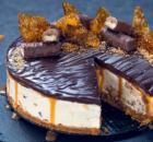 Cheesecake με σοκολάτα Twix χωρίς ψήσιμο (Video)