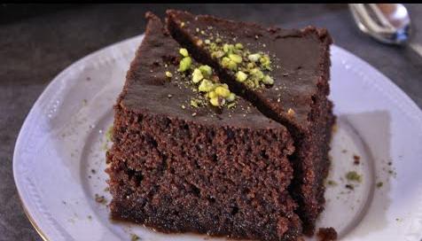 Ραβανί σοκολάτας σιροπιαστό (Video)