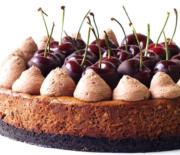 Black Forest Cheesecake με τραγανή κρούστα oreo
