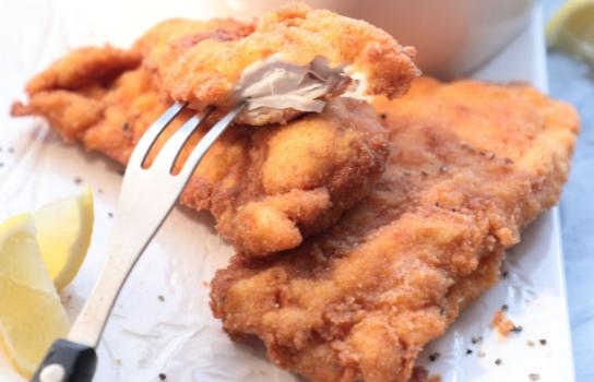 Σνίτσελ κοτόπουλο με μουστάρδα και πάπρικα