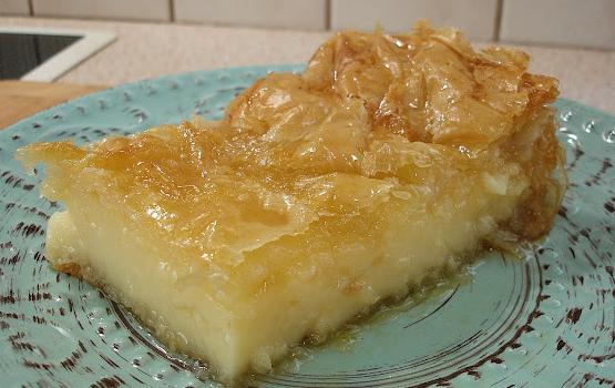 Γαλατομπούρεκο με τέλεια κρέμα πατισερί